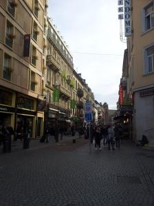 街の中心どおり